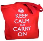 Tote Bag, Keep Calm and Carry on USA, $25