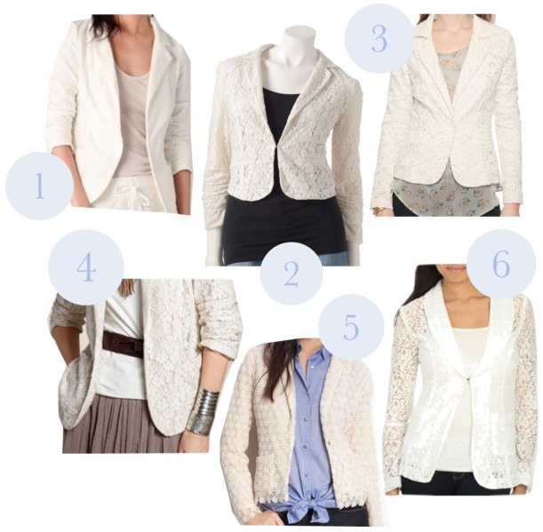Lace Blazers - shell chic'd