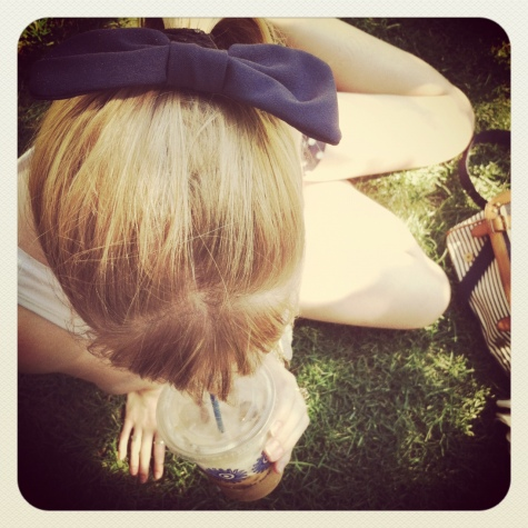 american apparel navy bow