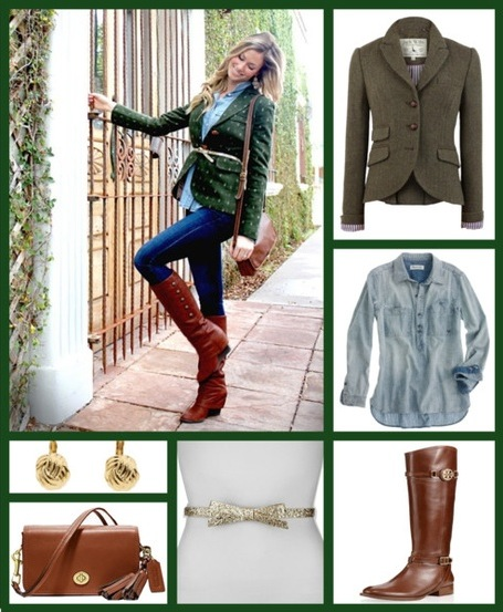 preppy fall tweed outfit
