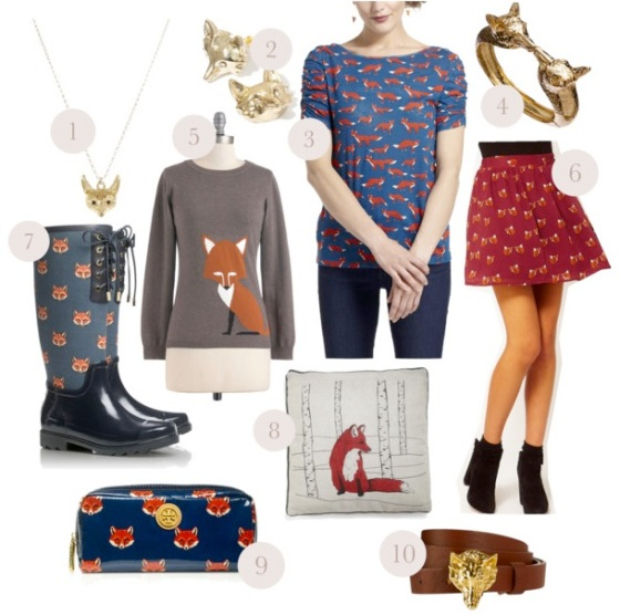 fox print fashion