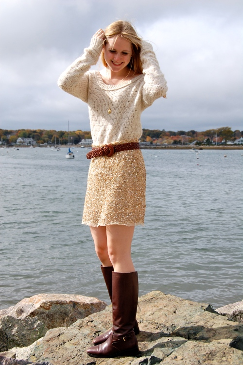 sequin zara skirt