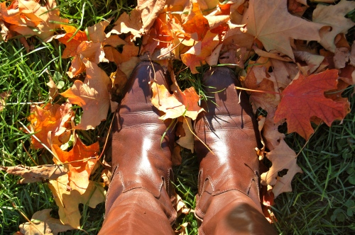 ralph lauren boots in leaves