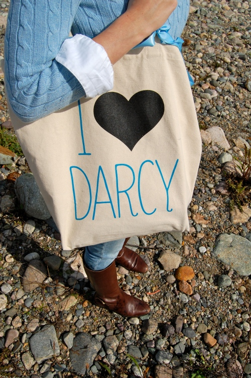 i love mr. darcy tote