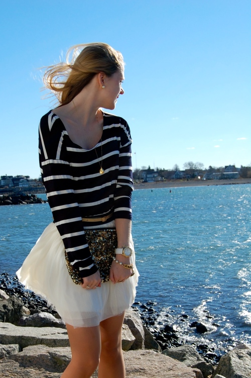 tutu skirt striped shirt