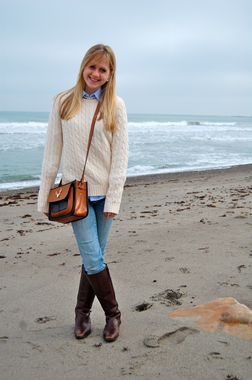 preppy beach look