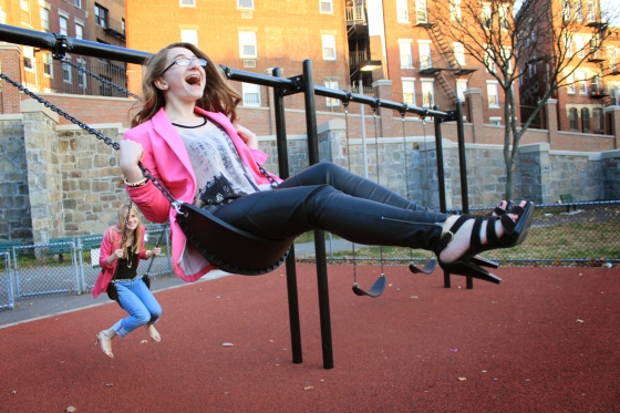 playground fashion photoshoot