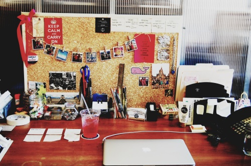 colorful work desk