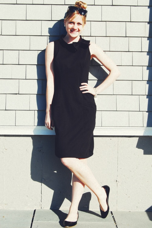 eshakti black bow dress