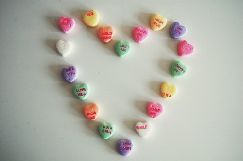 conversation hearts photography