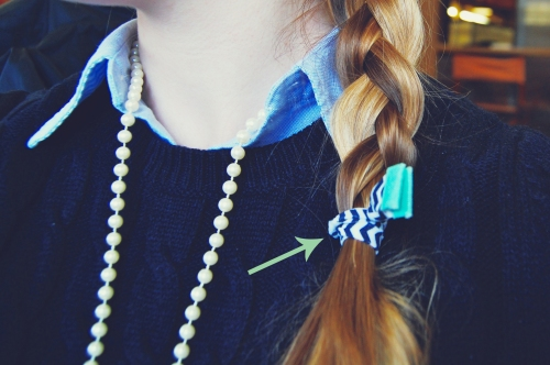 chevron rope hairties