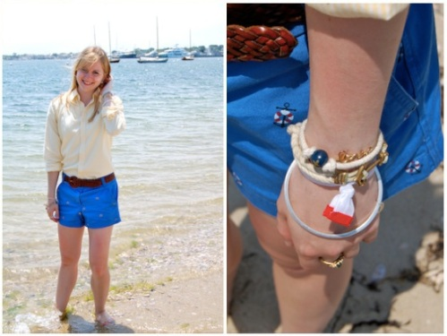 rope anchor bracelets; nautical hairties
