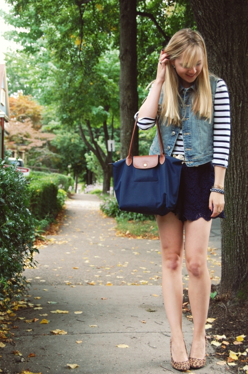 navy lace shorts