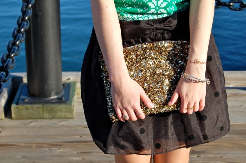 black bow party skirt