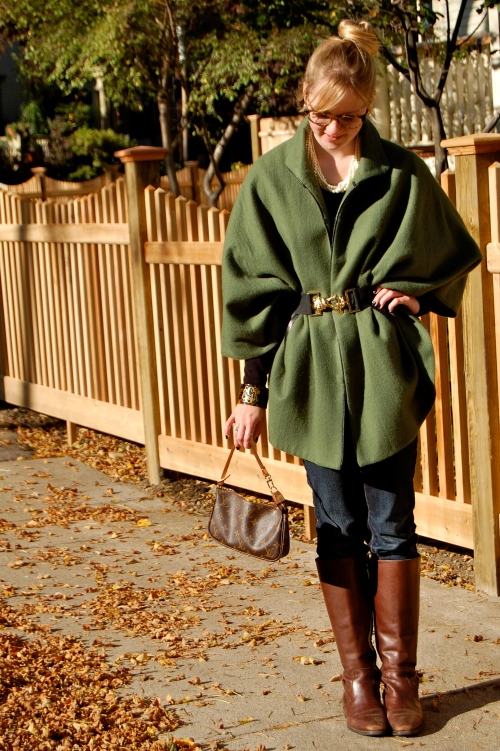 Forest Green Fall Cape