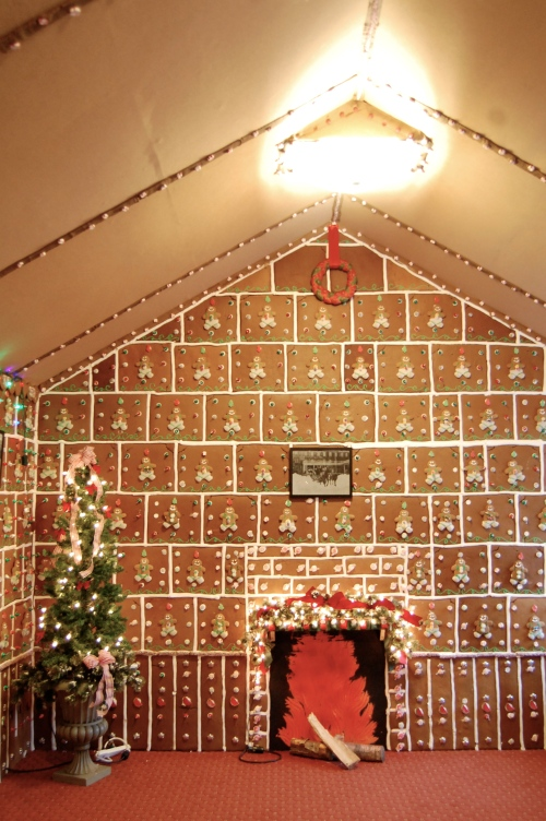 Life-sized Gingerbread House
