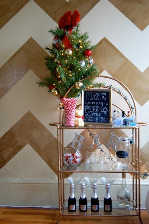 Christmas Bar Cart Style