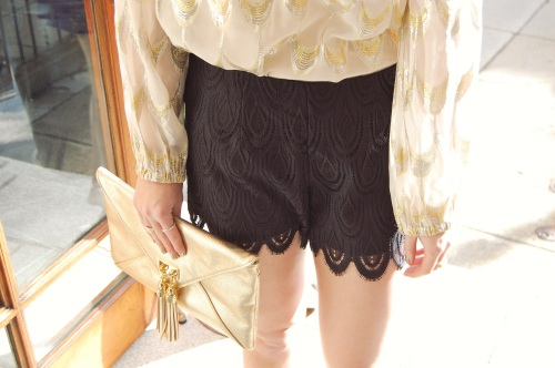 Black Lace Dress Shorts