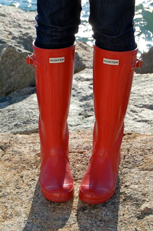 Pillbox Red Hunter Boots