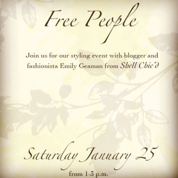 Free People Harvard Square Events