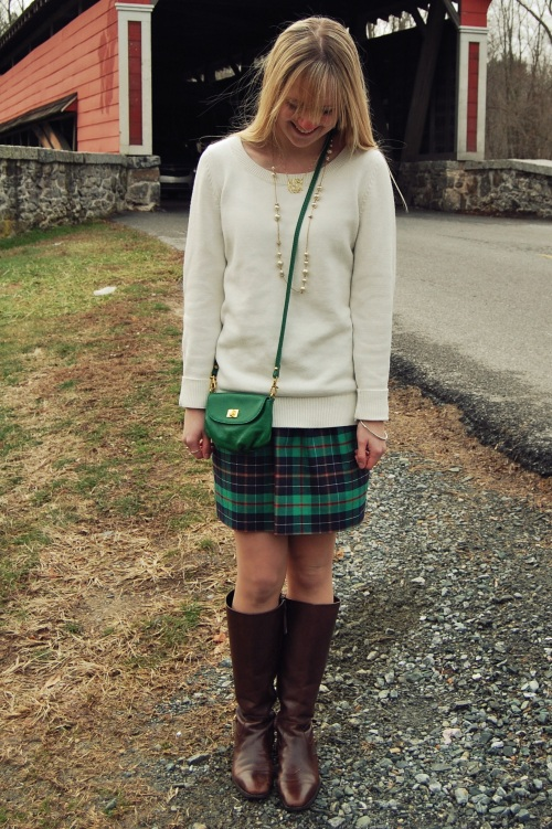 J.Crew Christmas Plaid Skirt
