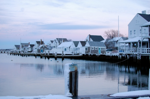 Nantucket Harbor in the winter