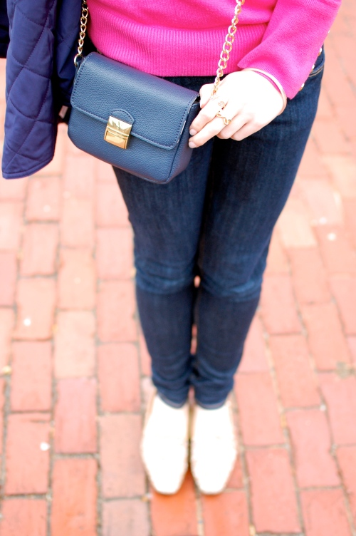Navy Crossbody Purse