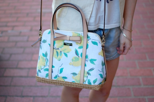 Kate Spade Via Limoni Wicker Bag