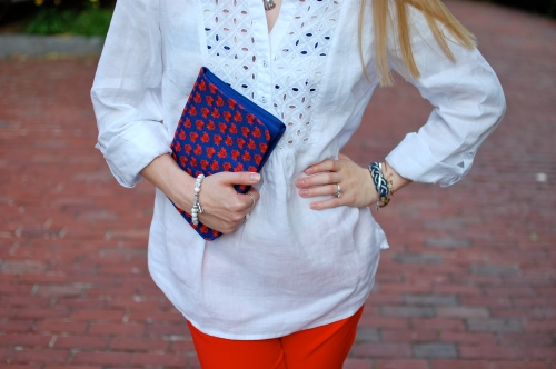 White Eyelet Tunic Top | August Silk