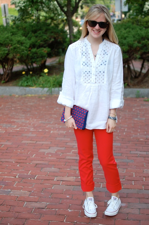 Red, White, & Blue Summer Outfit