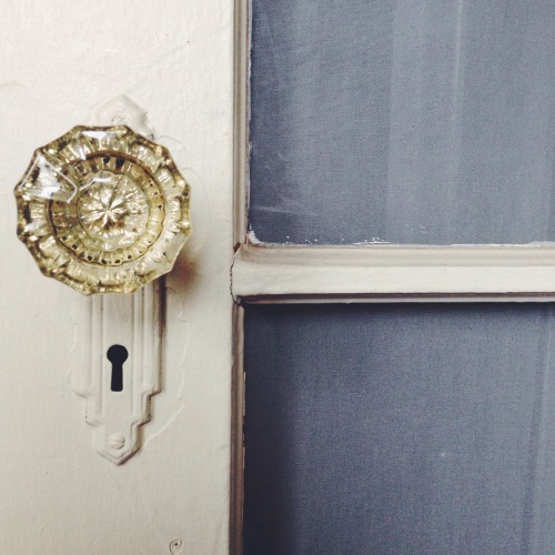 Old-fashioned vintage doorknob