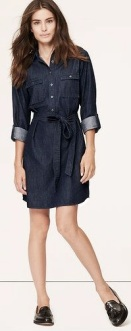 Denim Chambray Shirtdress