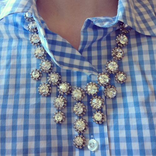 Gingham + BaubleBar Statement Necklace