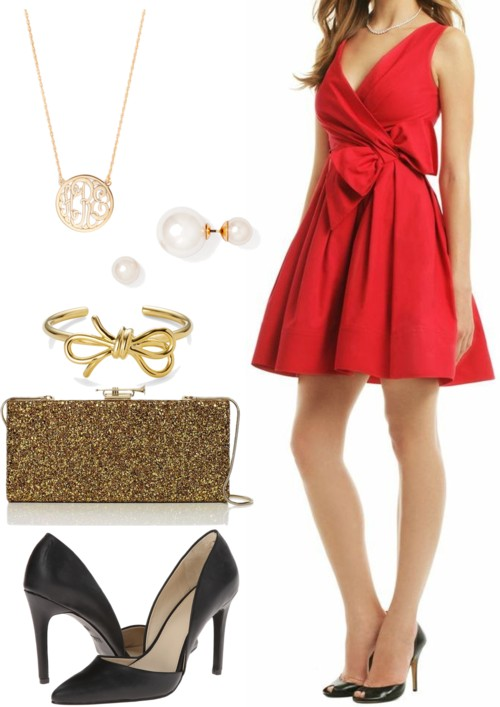 Holiday Red Bow Dress