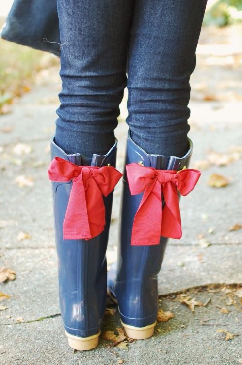 preppy rain boots