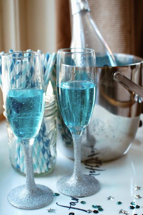 Blue Champagne Liqueur