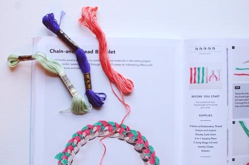 DIY Embroidery Floss Chain Bracelets