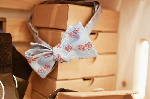 Bicycle-Print Bow Tie