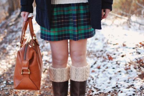 Green Plaid Christmas Skirt