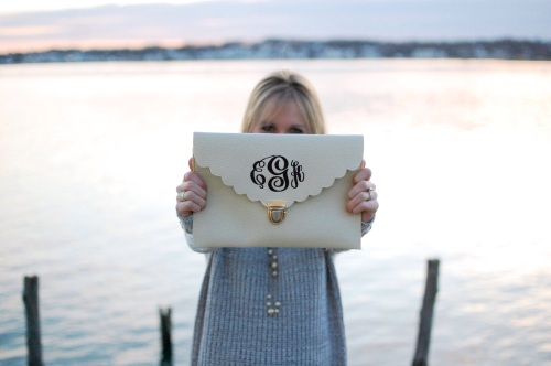 Marley Lilly Monogrammed Clutch