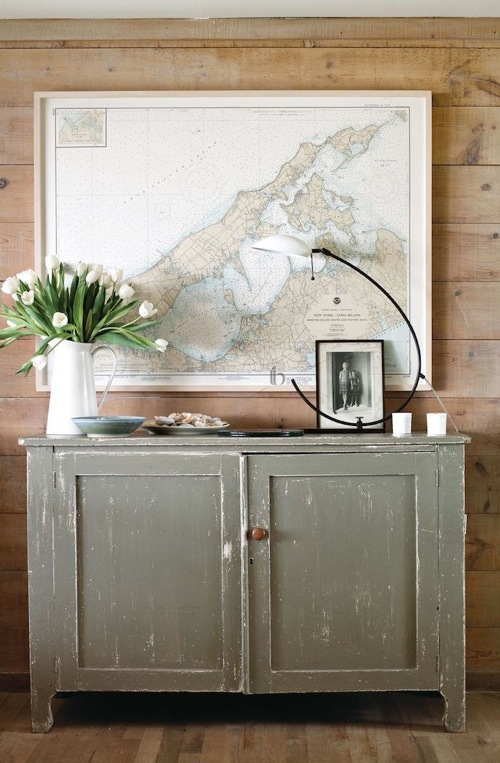 nautical map art