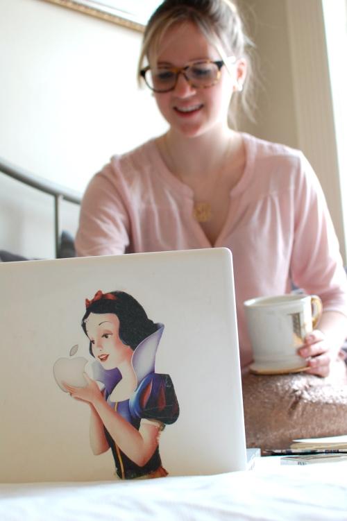 Snow White Apple Computer Sticker