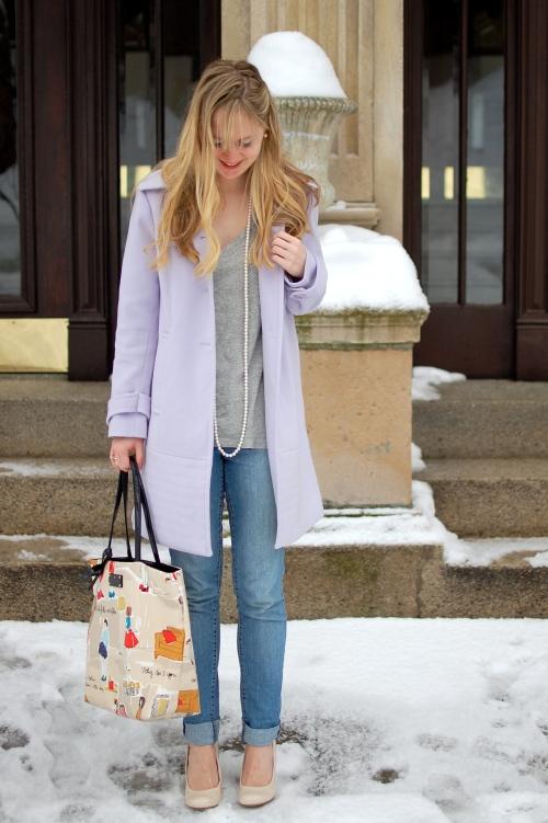 Lavender Winter Coat