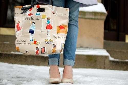 French Illustration Bag