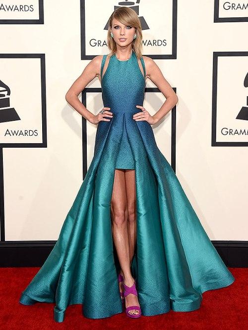 Taylor Swift Elie Saab Teal Dress