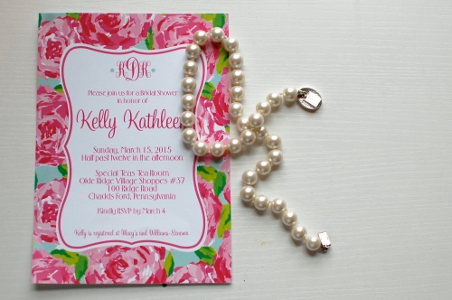 Lilly Pulitzer Party Invitation
