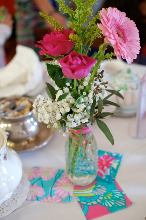 Lilly Pulitzer Flower Arrangements