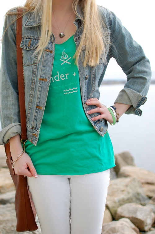 Kelly Green Preppy Tank
