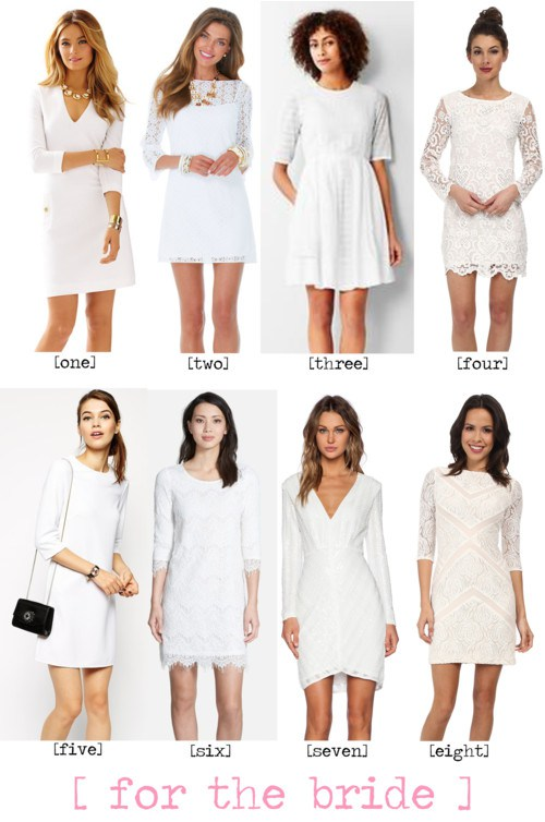 Long Sleeve Bride Shower Dresses