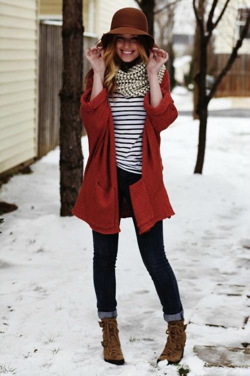 Red Coat + Stripes